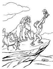 Рафики показывает Симба со скалы