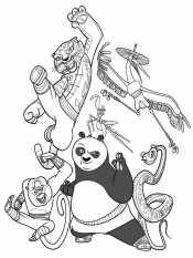 Кунг-фу панда для детей