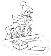 Библиотекарша и Вовка