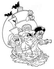 Рсакраска Пираты
