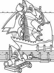 Пиратский корабль в бою