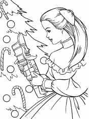 Девочка с Щелкунчиком у елки