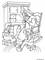 Герда и Кай слушают сказки бабушки