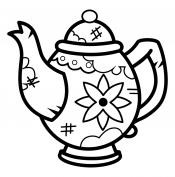 Чайник в цветочек