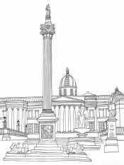 Раскраска Дворцовая площадь