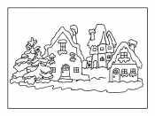 Рисунок зимний пейзаж