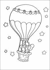 Мишка на воздушном шаре