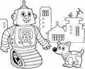 Робот и собака