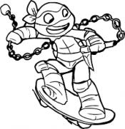 Черепашка - ниндзя на скейтборде