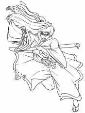 Самурай с катаной