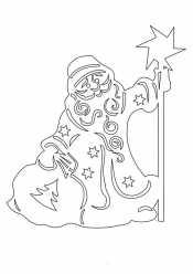 Новогодний трафарет дед Мороз