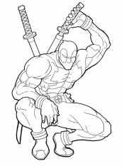 Дэдпул берут меч