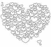 Сердце из сердечек