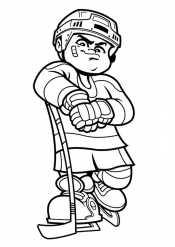 Рисунок хоккеист