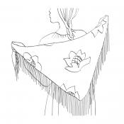 Платок на плечах