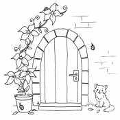 Дверь и кот