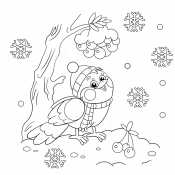 Картинка снегирь