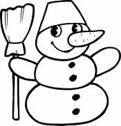 Снеговик для детей