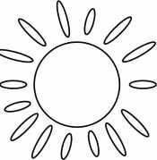 Солнышко раскраска для малышей