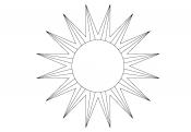 раскраска солнышко с лучиками