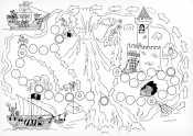 Раскраска Настольная игра Спаси принцессу