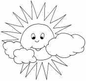 Солнце и тучки