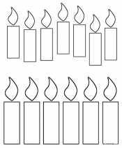 Раскраска Свечи