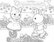 Кошечка и Зайчик Сильвания Фэмили