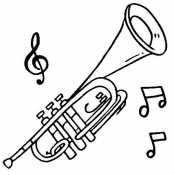 Труба и ноты