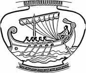 Ваза с греческим орнаментом