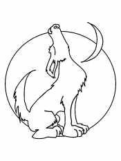 Раскраски волк