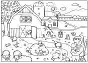 Рисунок деревня