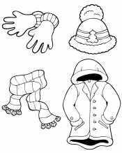 Рисунок Зимняя одежда