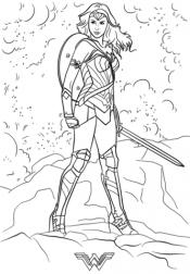 Чудо женщина с мечом