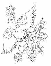 Раскраска Жар-птица