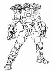 Железный человек со всем оружием
