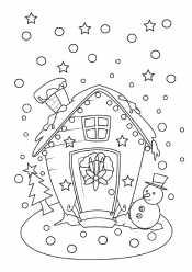 Зимний домик и звезды