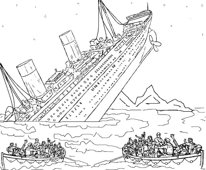 титаник рисунок корабля
