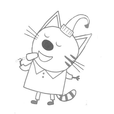 Раскраски три кота скачать