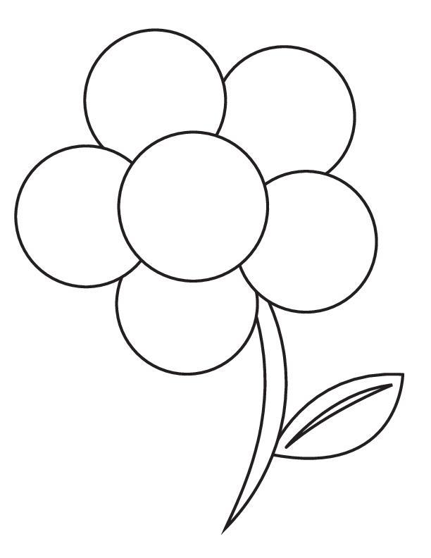 Картинки цветы раскраска для детей, днем рождения