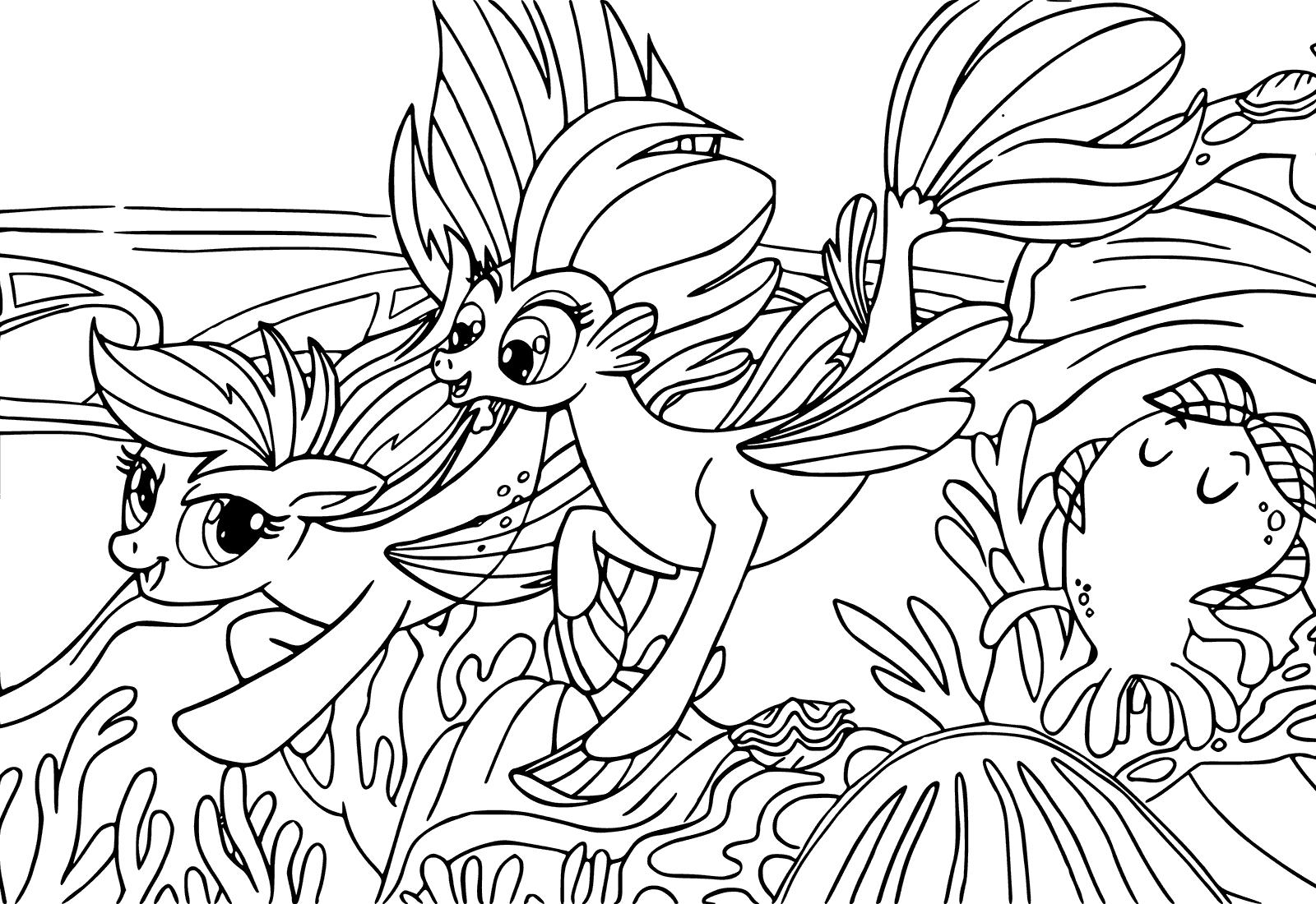 пони русалки раскраска