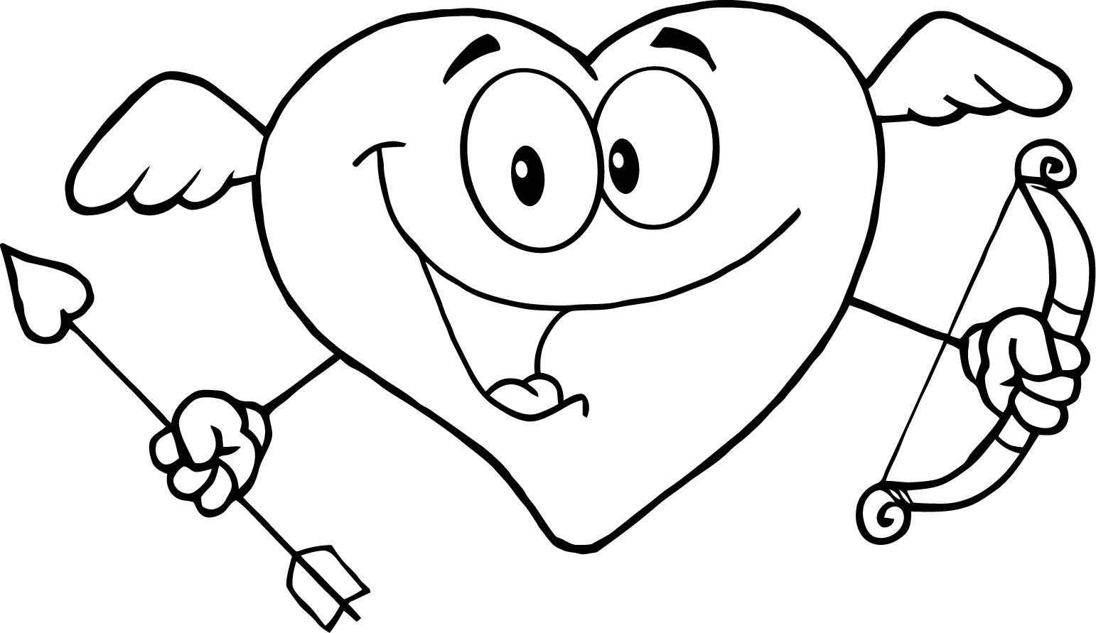 Смешные сердечки раскраска