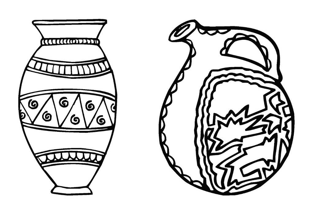 Как раскрасить вазу на рисунке