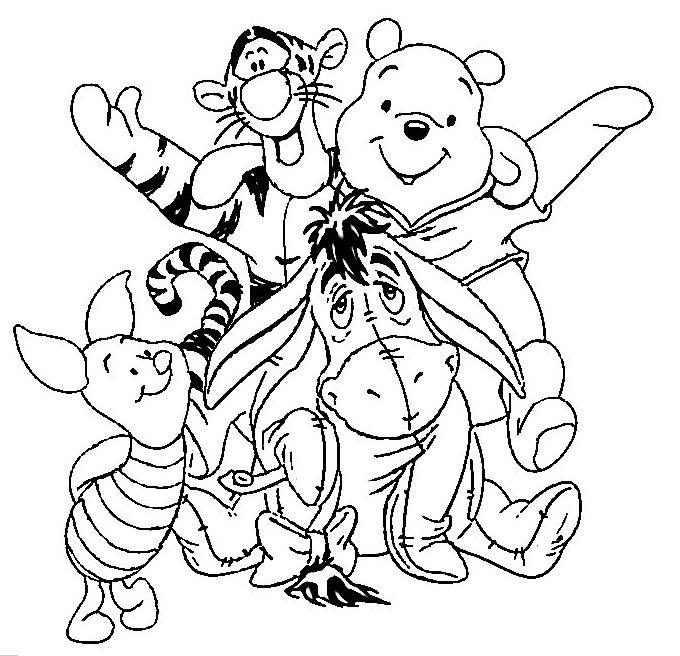 Раскраски Винни Пух - детские раскраски распечатать бесплатно