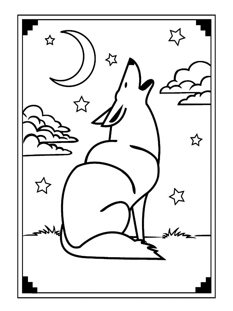 Раскраска Волк - детские раскраски распечатать бесплатно