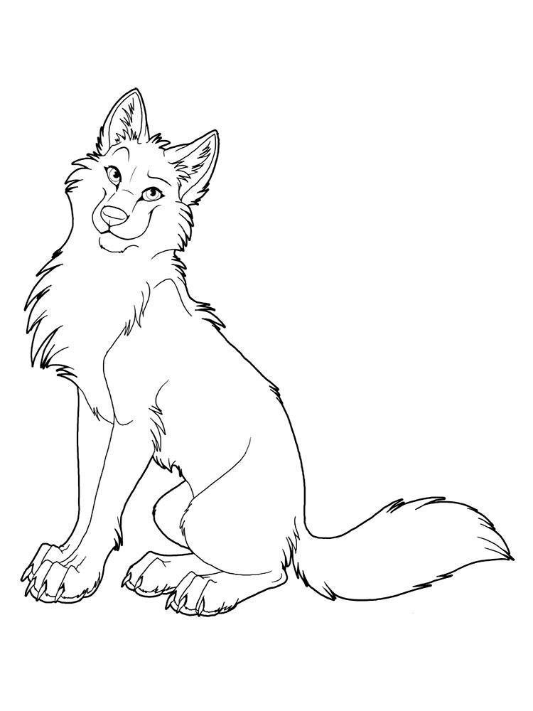 Раскраска волков