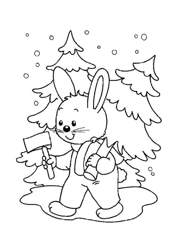 Зимняя сказка картинка раскраска